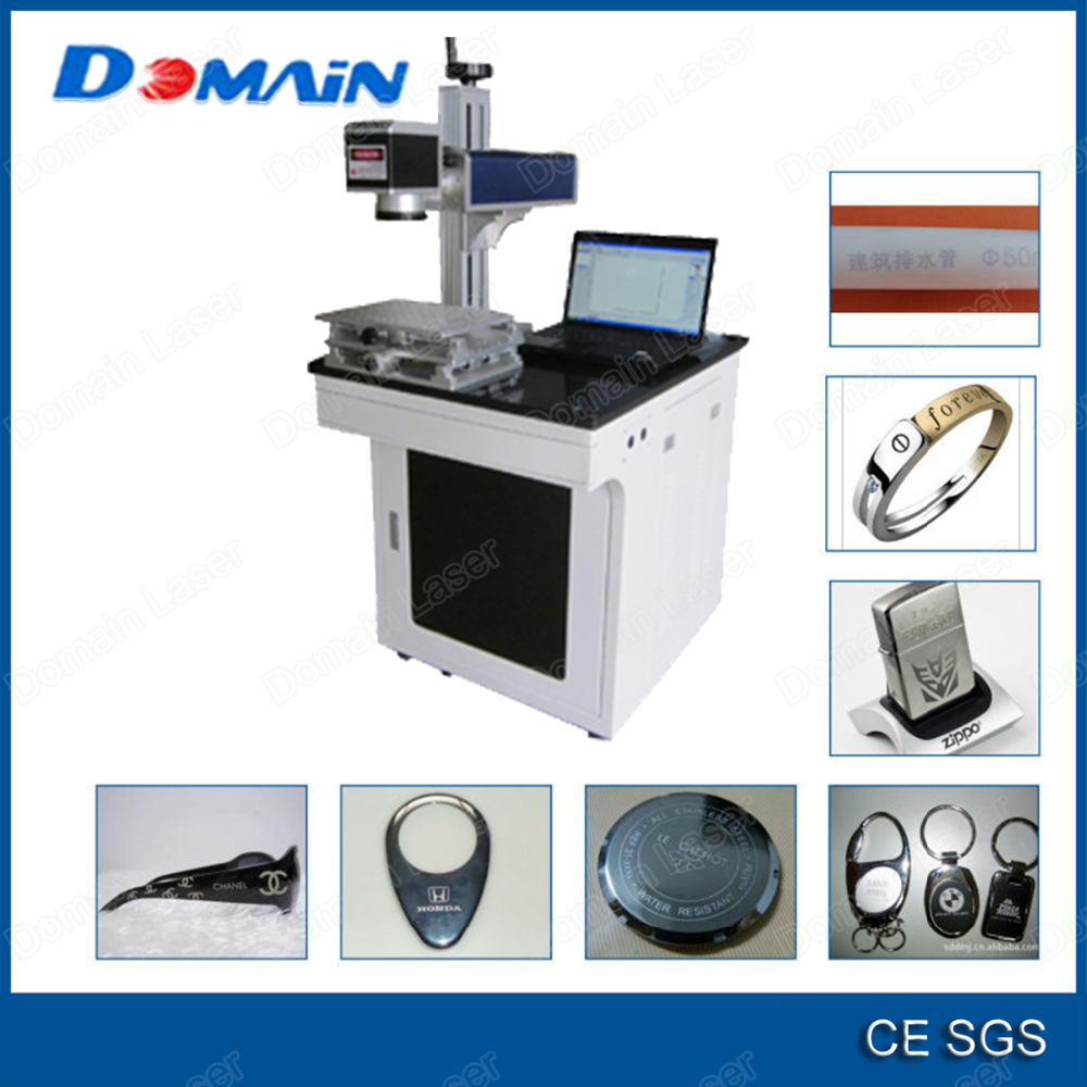 New sale high performance metal key toner plastic marker engraver fiber engraving 10w 20w fiber laser wire marking machine