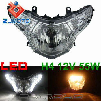 New LED Daytime Running Light Motorcycle Headlight Headlamp With 12V H4 Bulbs for Honda CBR250R CBR250 2008-2012 2009 2010 2011