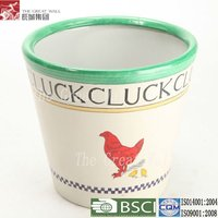10 inch wholesale painted clay flower pots