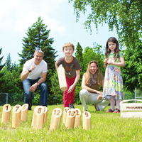 Travel Size Wood Molkky Kubb Game