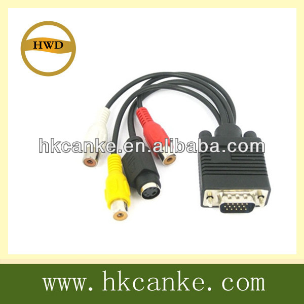 VGA to RCA s video AV TV Converter Adapter cable