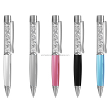 Custom logo printed crystal loaded stylus pen