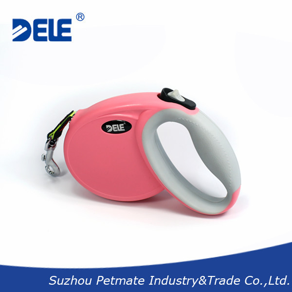 Hot sale pet leash DELE PRO retractable running walking dog leash for dogs up to 33 pounds