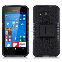 Heavy Duty Tough Shockproof Hybrid Case with Stand for Microsoft Lumia 550