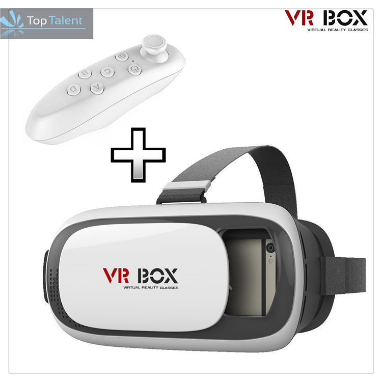 360 degree Full Shot View VR camera 3D IMAX VR box 2.0 vrarle VR box with remote for smartphones IOS Android Cellphones