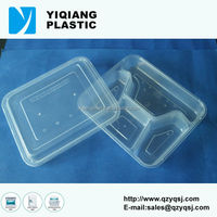 Air-tight clear food container with logo