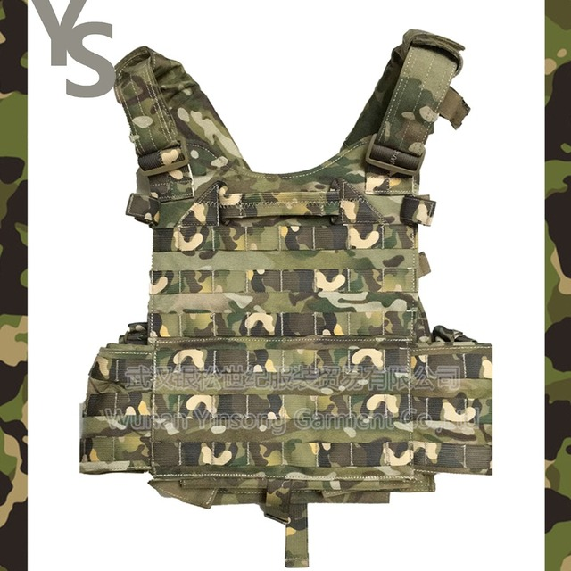 [Wuhan YinSong] Tactical AK 47 Molle Vest Body Armor With Camouflage Fabric