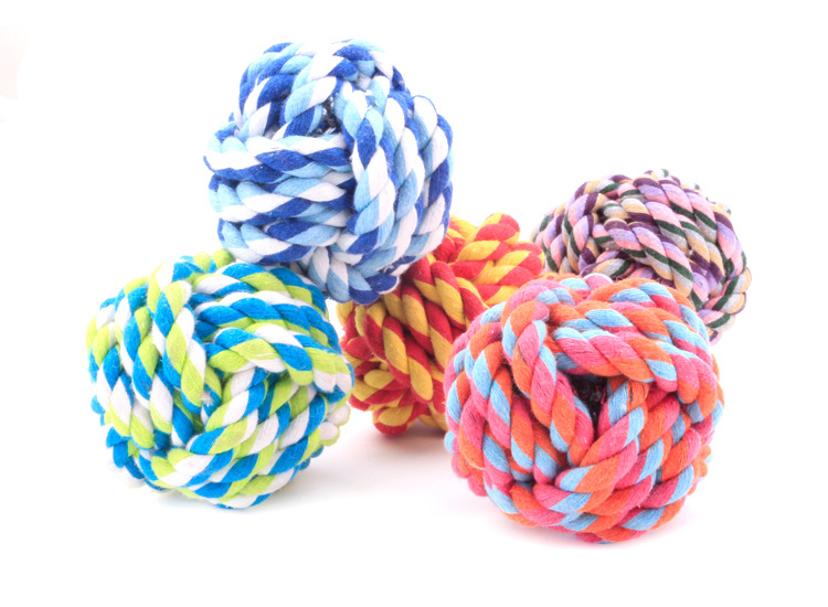 pet custom chewing toys handmade cotton dog toy rope