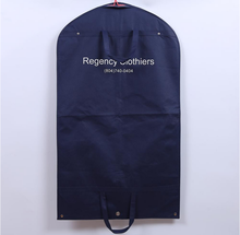 eco friendly reusable non woven garment bag with zipper closure