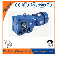 High efficiency Helical - bevel K Series 1 hp gear motor with speed control