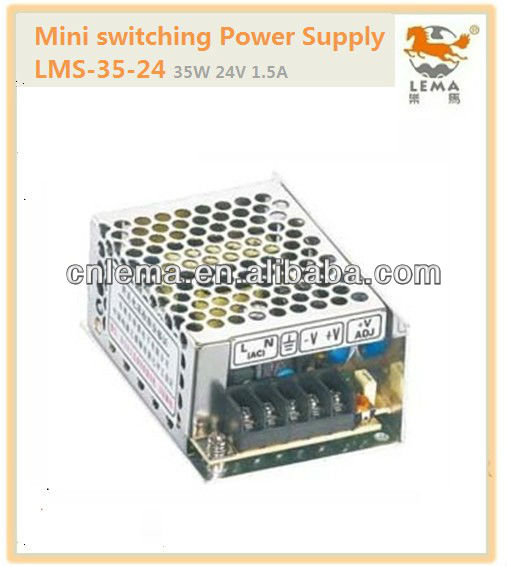 LMS-35-24 35W 24V 1.5A Mini single output switching power supply