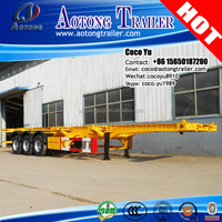 Philippines Tri axis cheap price container 40ft skeleton 3 axles semi trailer for Subic