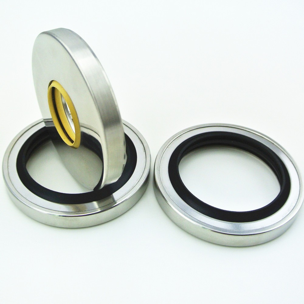 High quality mechanical seal PTFE double lips stainless steel oil seal