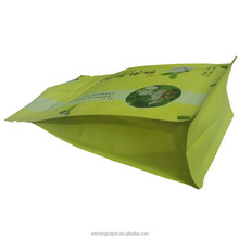 Custom Design stand up reseal supermaket fruit packaging bag with breath hole