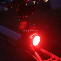 USB Rechargeable LED bike light set, cycling headlight and taillight, front and rear bicycle light set