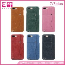 Fashion leather case for iPhone 7/7plus Jean PU material plug-in card/INSERT CARD mobile phone shell