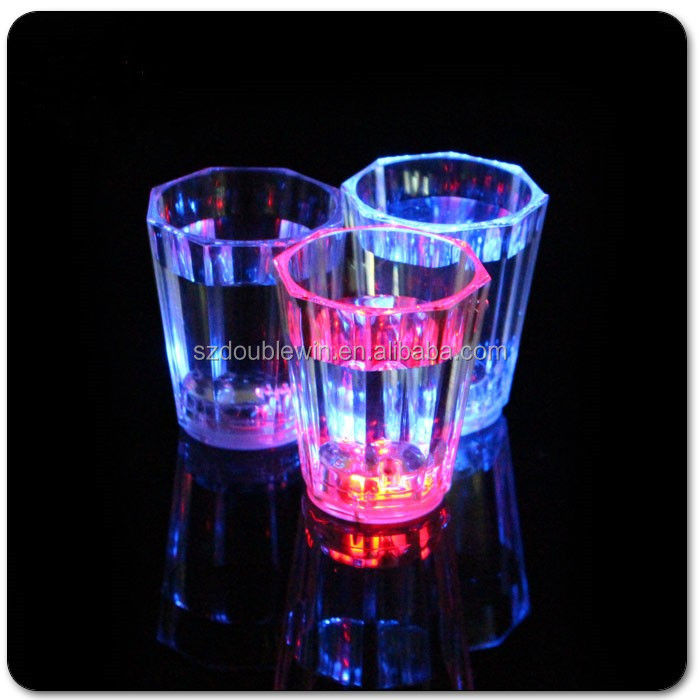 christmas party led shot glass 2oz light up mini led wine glass