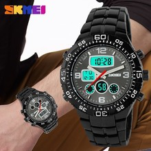 SKMEI 1030 Luxury Sport Military Dual Time zone Quartz watch Men Analog Wrist Watch