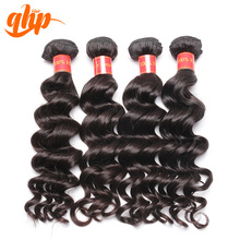 QHP 100% virgin natural unprocessed 8-30 inch sew in human hair extensions