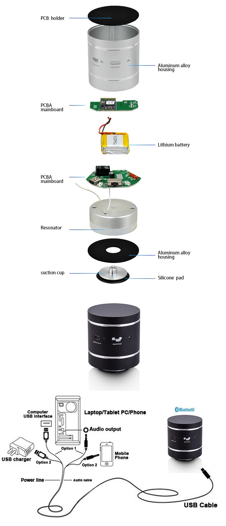 2017 hot sale 10 Watt Portable bluetooth 4.0 best Vibration Speaker