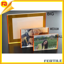 "Acrylic Photo Frame Magnet Photo Frame,Thickness One Peice 0.47"" .Simply Sandwich Your photo Between Two Transparent Acrylic"