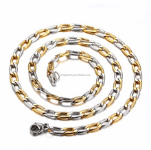 Wholesale Low price Silver Gold Color stainless steel 4.5mm NK chain LTC091