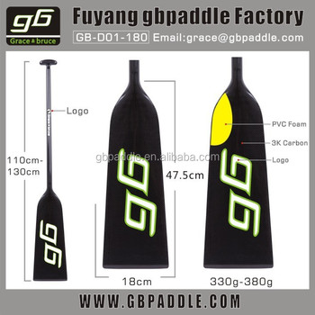 IDBF certificated carbon fiber dragon boat paddle