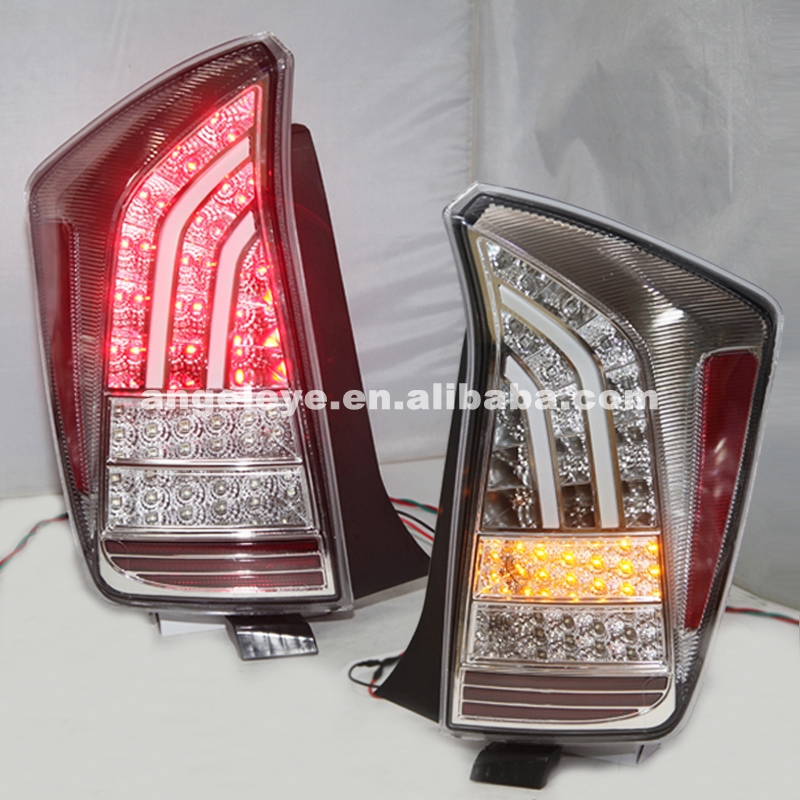 or TOYOTA Prius LED Tail Lamp 2009-UP Chrome Housing Clear Cover JY