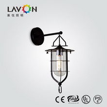 antique wireless wall lights with clear glass shade for hotel interior decoration