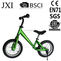 2015 fashion design green color bike stand children balance walking bike aluminium training bike