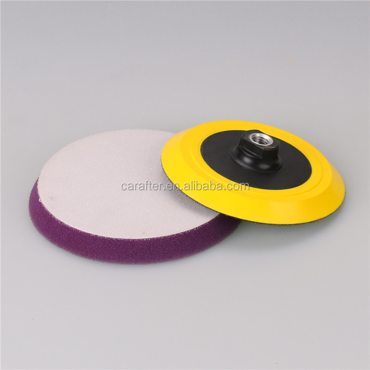 Adhesive foam buffing pad for car detailing car buffing and polishing pads sponge car buffers