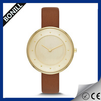 Rose gold women watch stainless steel chain wrist watch ladies stainless steel watch