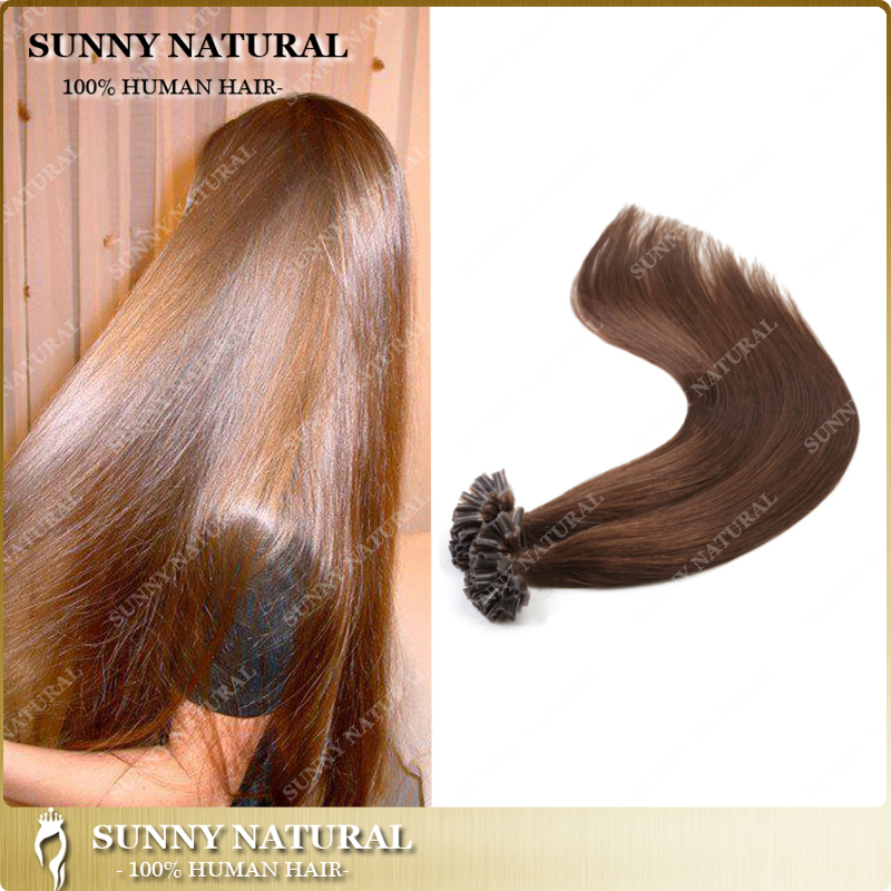 Sunny Wholesale Price Pre-Bonded Hair Extension I/<strong>U</strong>/V/Flat/Nail tip Extensions <strong>1</strong> g/ strand