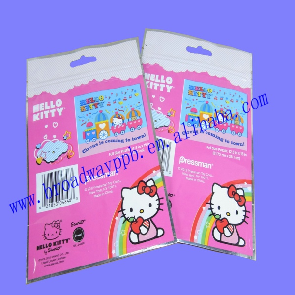 factory custom printed toys aluminum foil zip lock packaging bags for puzzle