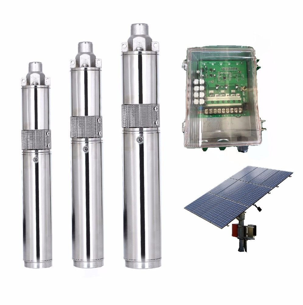 stainless steel high pressure solar powered submersible deep well water pumps 24v dc water pump