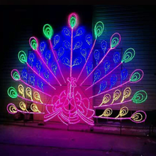 Rope Light Multi Color LED Peacock Motif Lights for Festival Decoration