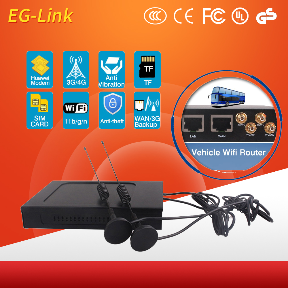 Metal Enclosure 4G Wifi Routers With Module Used In Car Or Bus