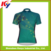 2014 100 % polyester Sublimation short sleeves Cycling jerseys