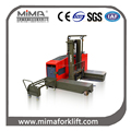 MIMA stand on electric side loading forklift 2500kg load capacity for long material with 400AH battery TD25 model