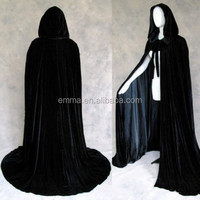 hot sales Hooded Velvet Cloak/Cape Halloween Wedding Pagan Witch BM560