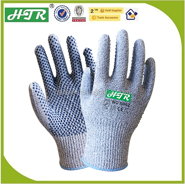 HTR nitrile dots cut resisitant safety work gloves