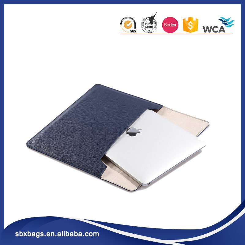 Portable Leather Sleeve Laptop Bag Case for Macbook Air