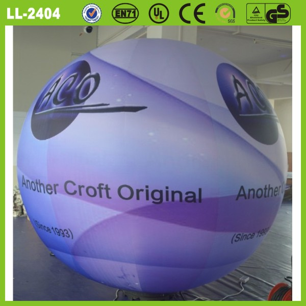 hot sale gaint custom made logo printing decoration inflatable led balloon