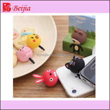 fashion hat and cap ,tinkerbell ear cap plug mobile dust plug, silicon dust plug for smart phones # BJ-JCDP-068