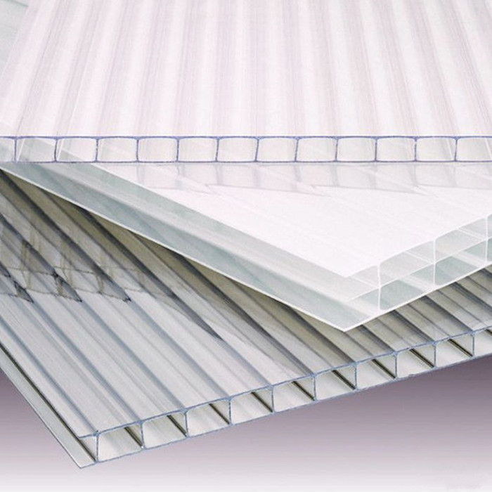 Light weight garage polycarbonate flat roof