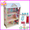 2015 Hot selling doll Wooden house,Luxury large children wooden doll house quality dollhouse W06A017