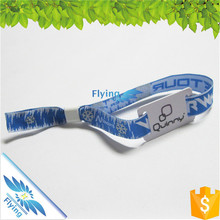 defined polyester decorative top quality woven wristbands events with RFID card