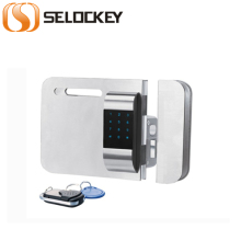 Wireless glass door lock (with door side) with password and IC card to open (LY15CR2-11BM)