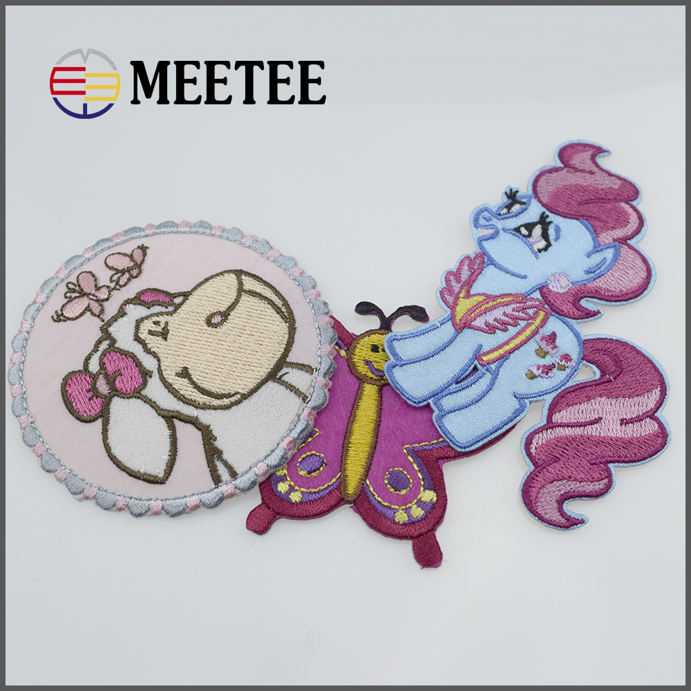 3# 78mm*58mm Lovely sheep High-end technology clothing patch or accessory application of gum patch