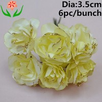hot sale 2015 design 3-3.5cm sparkle paper rose flower